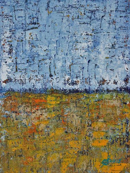 Painting - Crosshatched Marsh Original Painting by Sol Luckman