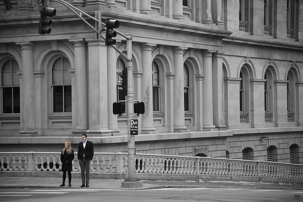 Photograph - Crossing A The Custom House by John Meader