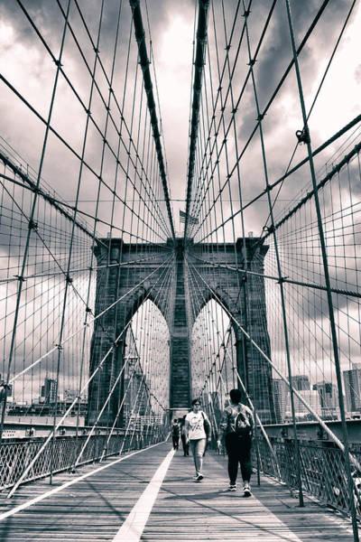 Photograph - Crossing Brooklyn Bridge by Jessica Jenney