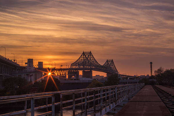 Photograph - Crossing In The Golden Light by Pierre D'Amours