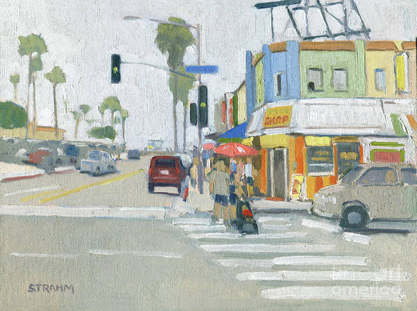 Boulevard Painting - Crossing Mission by Paul Strahm