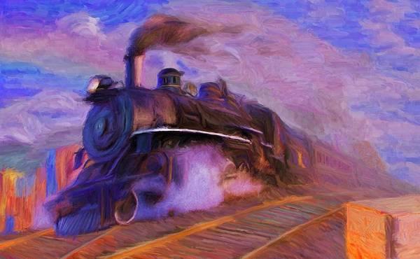 Digital Art - Crossing Rails by Caito Junqueira