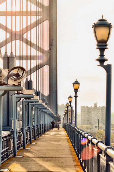 Philadelphia Phillies Digital Art - Crossing The Benjamin Franklin Bridge by Bill Cannon