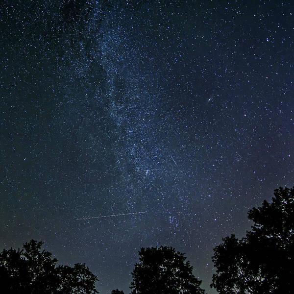 Perseid Wall Art - Photograph - Crossing The Milky Way 3 by Steve Harrington