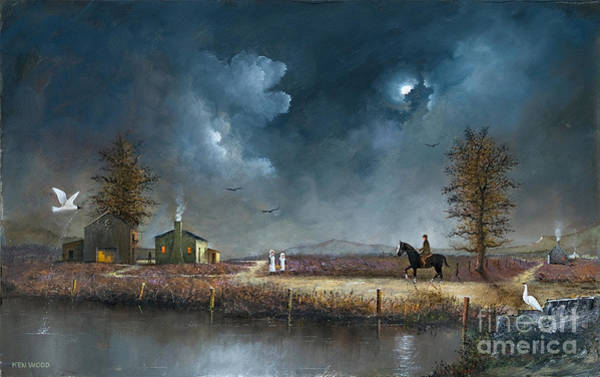 Painting - Crossing The Moor by Ken Wood