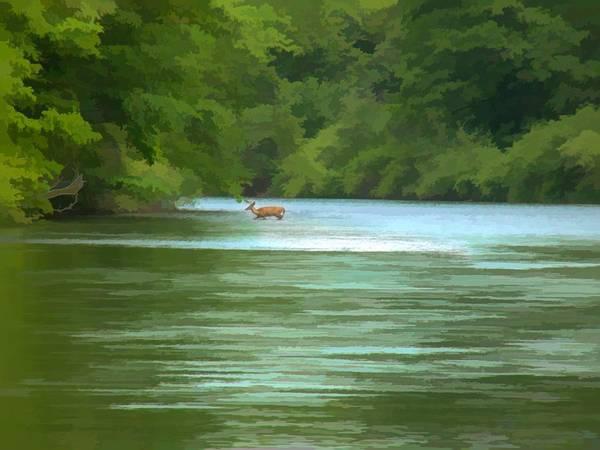 Digital Art - Crossing The River by Rusty R Smith