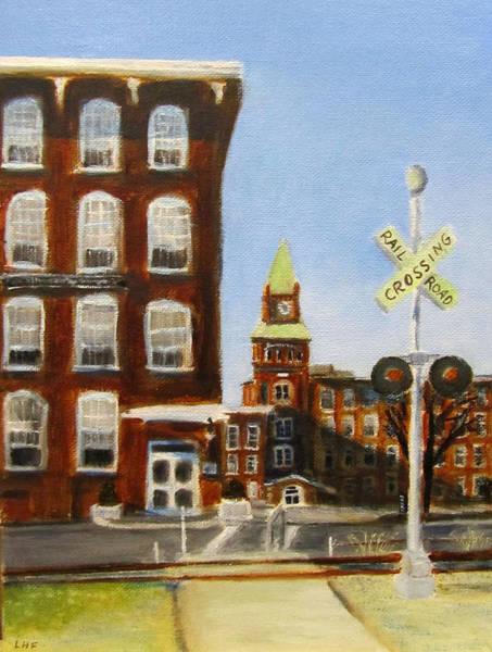 Painting - Crossing The Tracks by Linda Feinberg