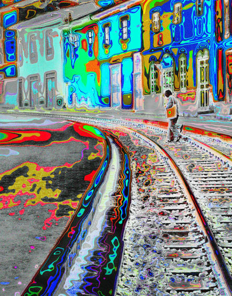Crossing The Tracks Art Print