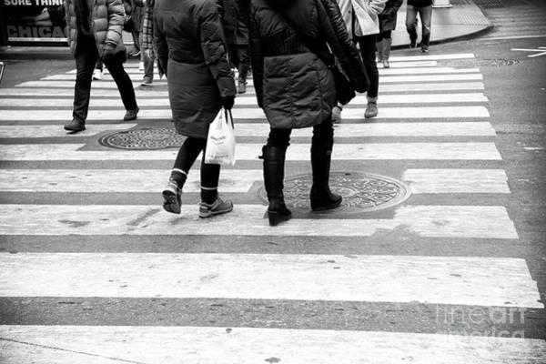 Photograph - Crossings Slowly New York City by John Rizzuto