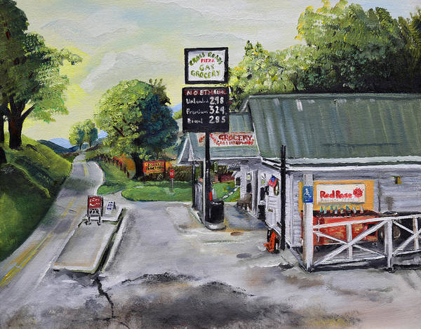Painting - Crossroads Grocery - Elijay, Ga - Old Gas And Grocery Store by Jan Dappen