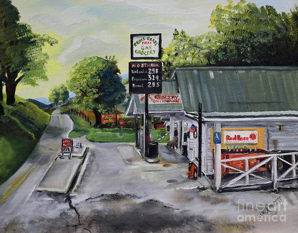 Painting - Crossroads Grocery - Elijay, Ga - Signed by Jan Dappen
