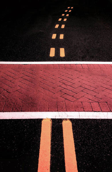 Photograph - Crosswalk Conversion Of Traffic Lines by Gary Slawsky