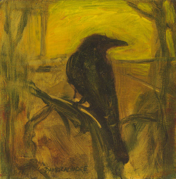 Daring Painting - Crow 21 by David Ladmore