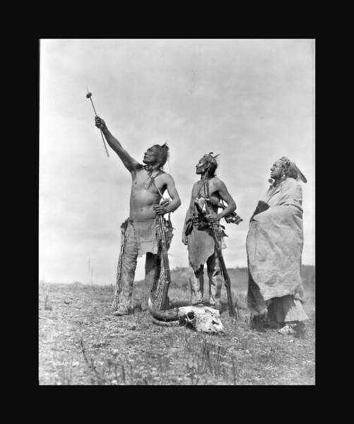 Photograph - Crow Indians Offering Food by John Feiser