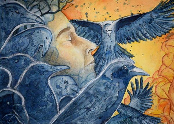 Wall Art - Painting - Crow Man by Kimberly Kirk