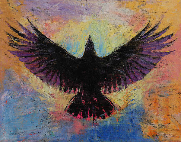 Spread Painting - Crow by Michael Creese
