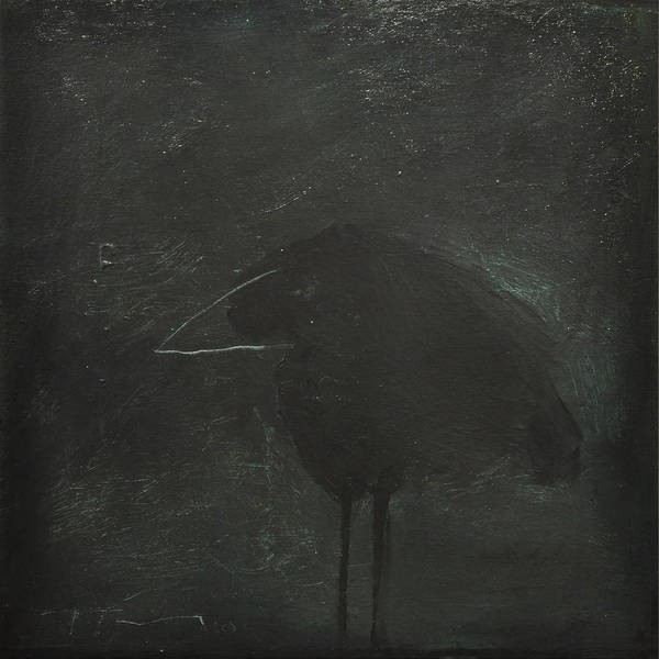 Wall Art - Painting - Crow by Tim Nyberg