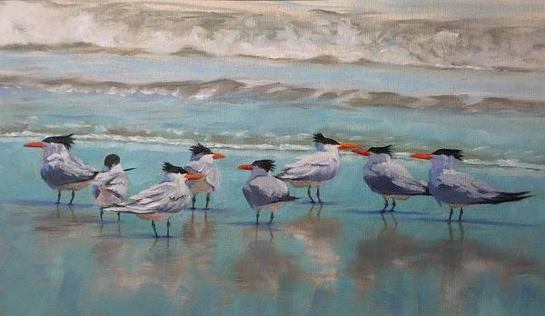 Wall Art - Painting - Crowd Control by Pam Talley