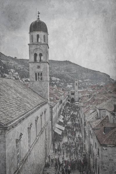 Photograph - Crowded Street - Dubrovnik  by Stuart Litoff
