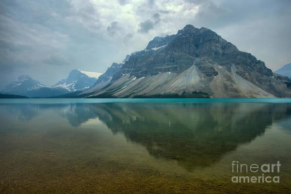 Photograph - Crowfoot Mountain Smokey Reflections by Adam Jewell