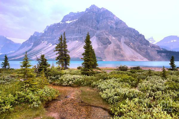 Photograph - Crowfoot Mountain Through The Summer Smoke by Adam Jewell