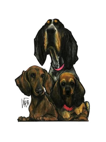 Pet Portrait Drawing - Crowhurst 3007 by John LaFree