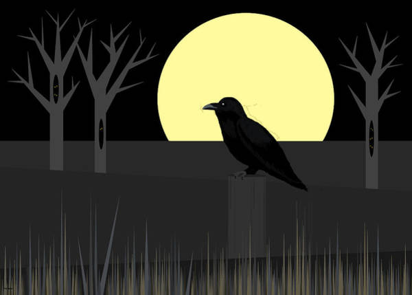 Digital Art - Crowing At The Moon by Val Arie