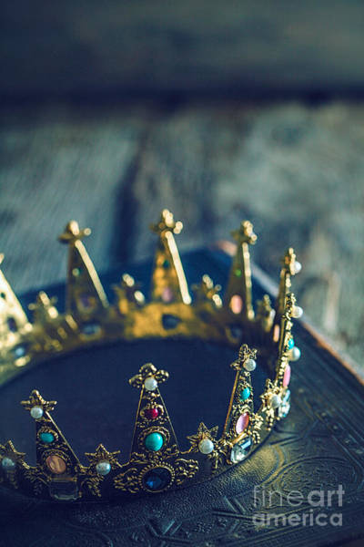 Golden Princess Photograph - Crown by Mythja Photography