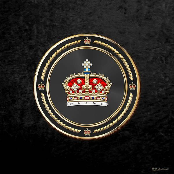 Digital Art - Crown Of Scotland Over Black Velvet by Serge Averbukh