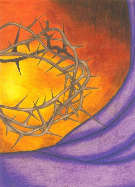 Sacrifice Mixed Media - Crown Of Thorns by Michelle Young
