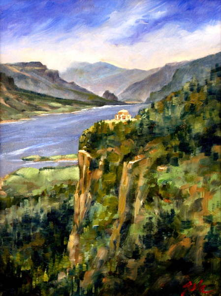 Wall Art - Painting - Crown Point Oregon by Jim Gola