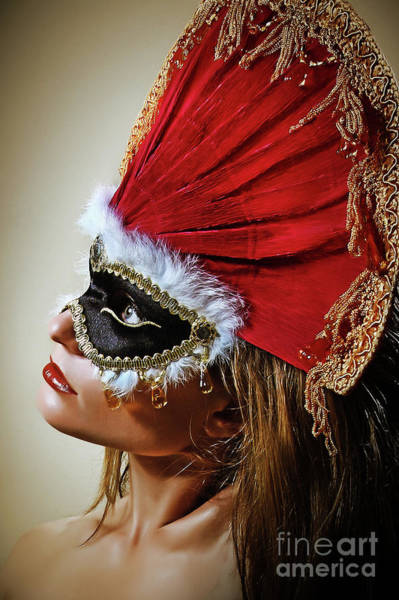 Photograph - Crown Princess Venetian Eye Mask by Dimitar Hristov