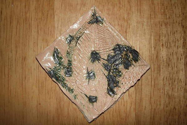 Ceramic Art - Crowned - Tile by Gloria Ssali