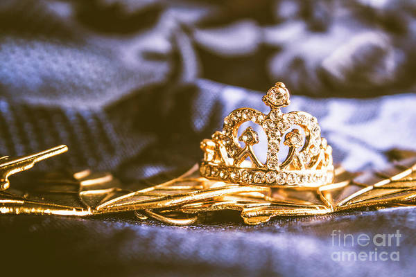 Crowned Tiara Jewellery Art Print
