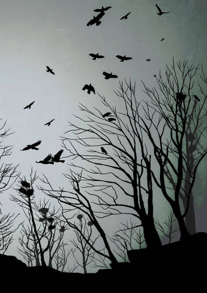 Roost Painting - Crows Roost 2 by Philip Openshaw