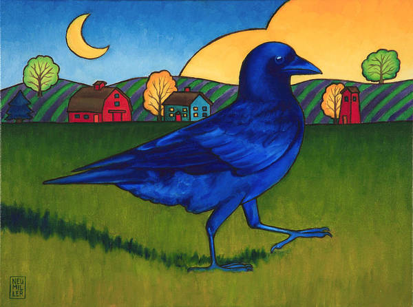 Wall Art - Painting - Crows Run by Stacey Neumiller