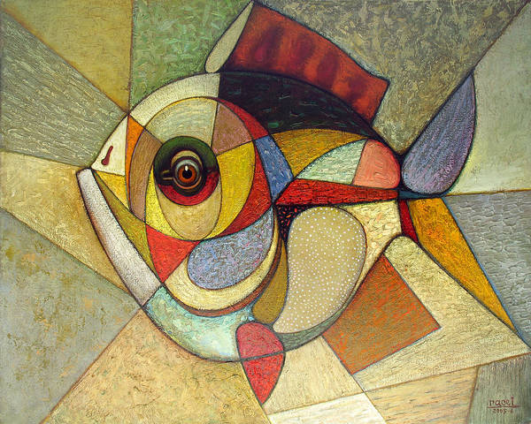 Wall Art - Painting - Crucian. 2005 by Yuri Yudaev-Racei