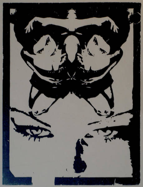 Digital Art - Crucifer Gaze, Black by Erik Paul