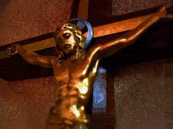 Easter Sunday Digital Art - Crucified by Robert Smerecki