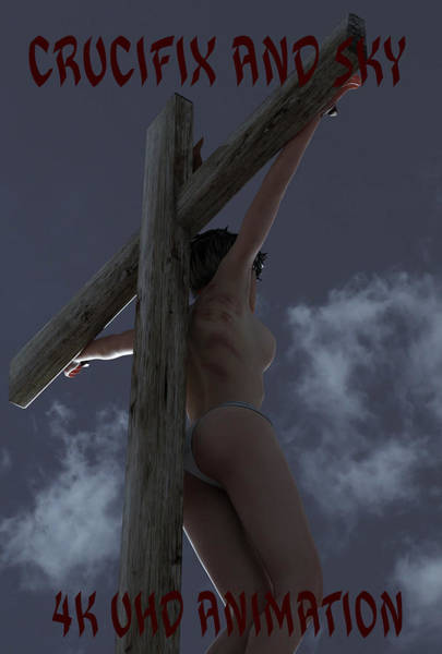 Wall Art - Digital Art - Crucifix And Sky Animation by Ramon Martinez