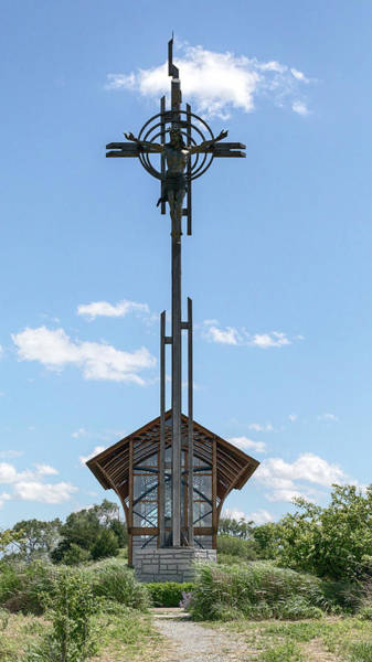Photograph - Crucifix At Holy Family Shrine by Susan Rissi Tregoning