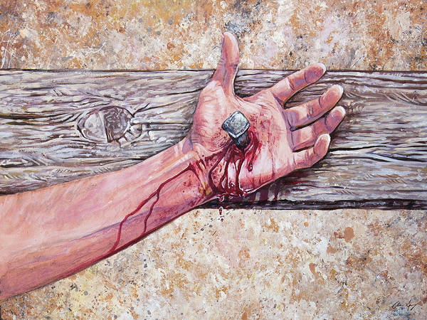 Painting - Crucifixion by Aaron Spong