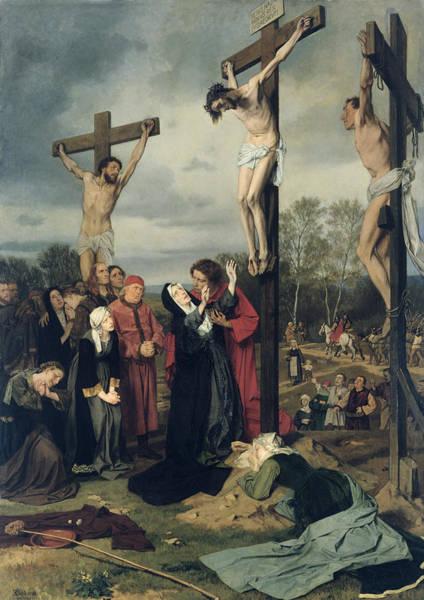 Franz Painting - Crucifixion by Eduard Karl Franz von Gebhardt