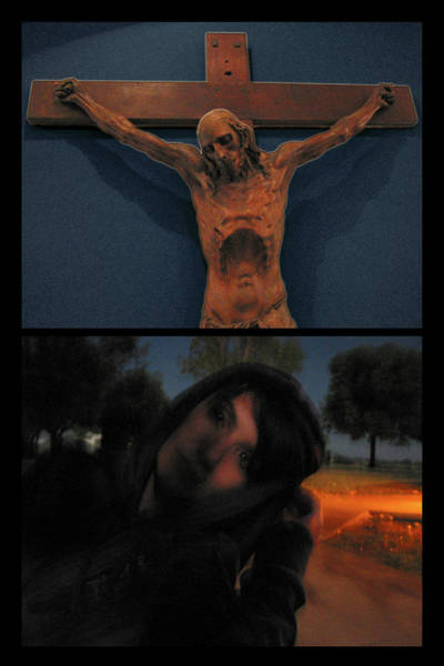 West Texas Wall Art - Photograph - Crucifixion by James W Johnson