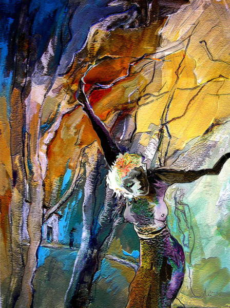 Painting - Crucifixion by Miki De Goodaboom