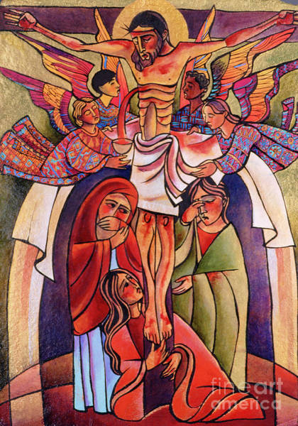 Painting - Crucifixion - Mmcrc by Br Mickey McGrath OSFS