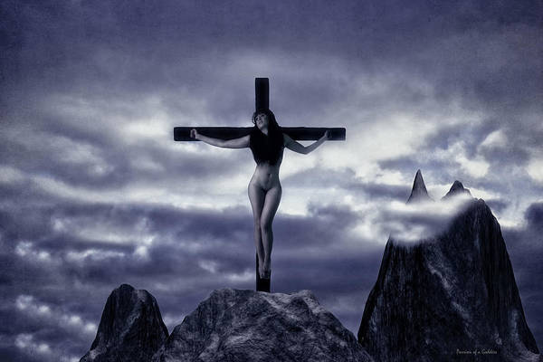 Croce Photograph - Crucifixion On The Mountain by Ramon Martinez