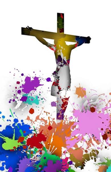Digital Art - Crucifixion.2 by Alberto RuiZ