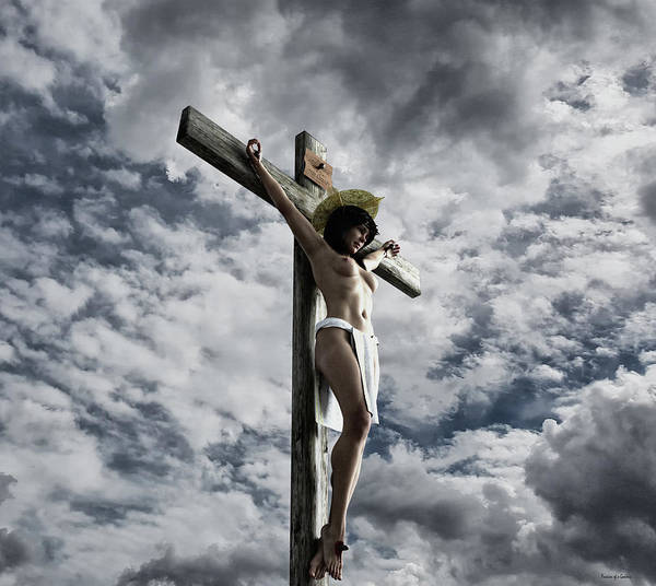 Wall Art - Digital Art - Crucifixus I by Ramon Martinez
