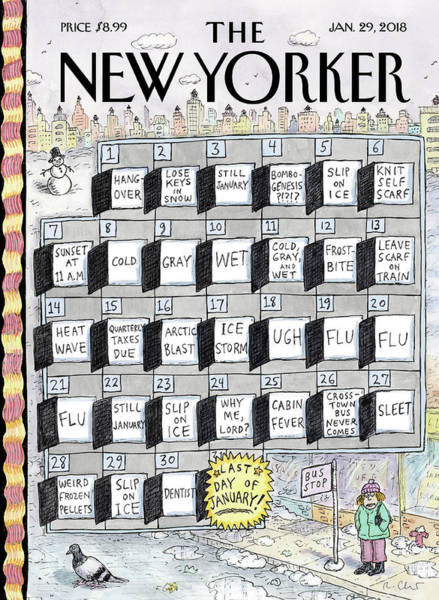 Sick Wall Art - Drawing - Cruellest Month by Roz Chast